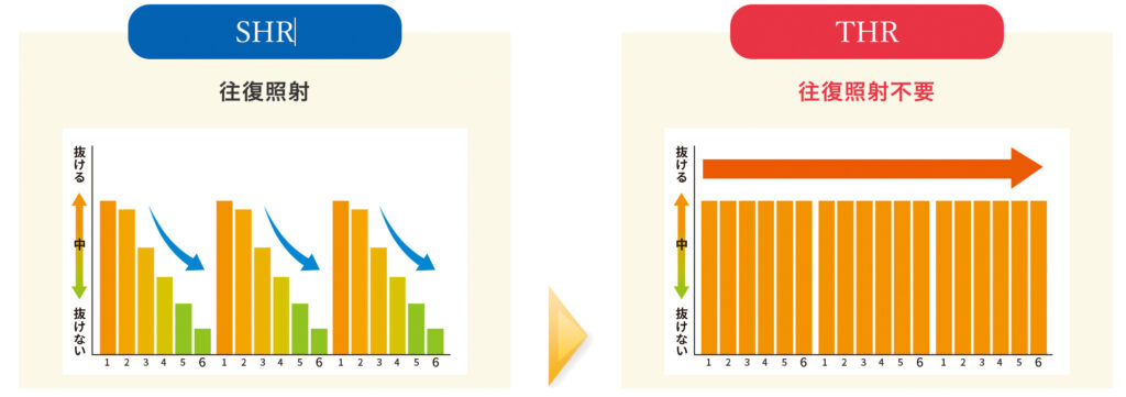 SHR,THR照射の違いグラフ